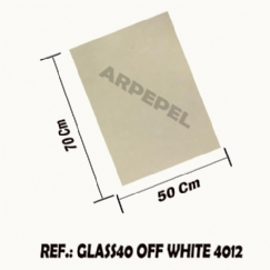 Foto PAPEL GLASSINE 40 GR C/50 FLS - OFF WHITE 4012